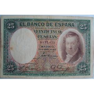 25 pesetas