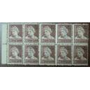 Bloque de 10 sellos fiscales (4pts)