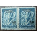 Bloque de 2 sellos fiscales (40cts)