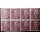 Bloque de 8 sellos de Franco (10cts)