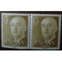 Bloque de 2 sellos de Franco (15cts)