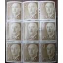 Bloque de 9 sellos de Franco (15cts)