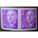 Bloque de dos sellos de Franco (2pts)