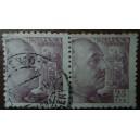 Bloque de 2 sellos de Franco (25cts)