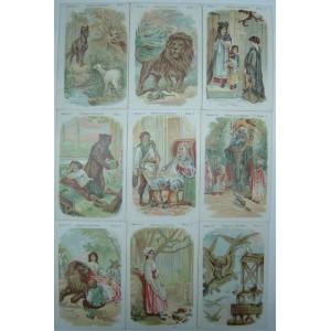 Colección incompleta cromos Fábulas Ilustradas, Serie 1