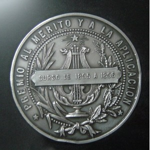 Medalla, premio al merito 1896