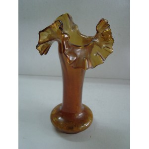 Jarrón de cristal marrón
