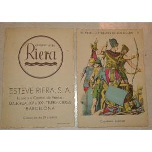 Colección completa 24 cromos, Chocolates Riera