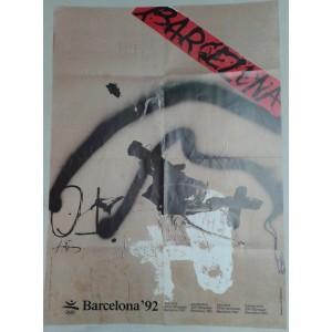 Cartel de Tapias, Barcelona 92